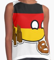 Germanyball Polandball Countryball w/ Beer and Pretzels Contrast Tank
