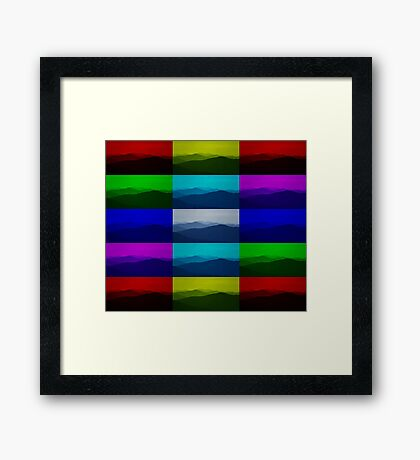 Mountain ridges colour abstract Framed Print