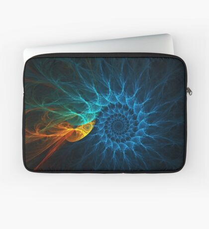 """The Spiral Koi"" (square) Laptop Sleeve"