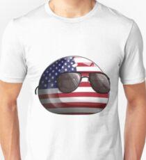 Americaball, Muricaball, USAball Polandball Countryball Unisex T-Shirt