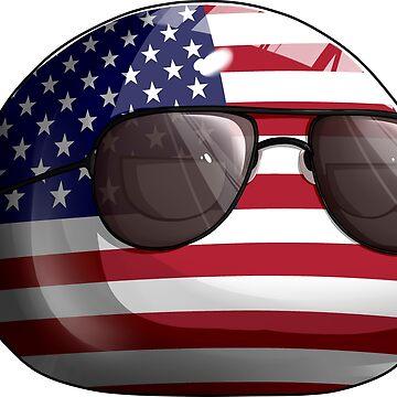 Americaball, Muricaball, USAball Polandball Countryball by poland-ball