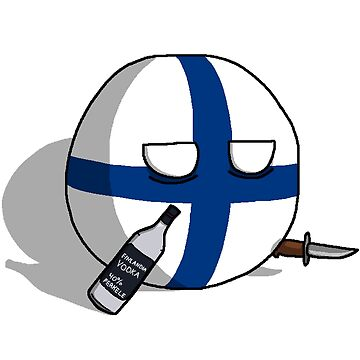 PERKELE, Finlandball with Knife and Bottle | Polandball's Countryballs by poland-ball