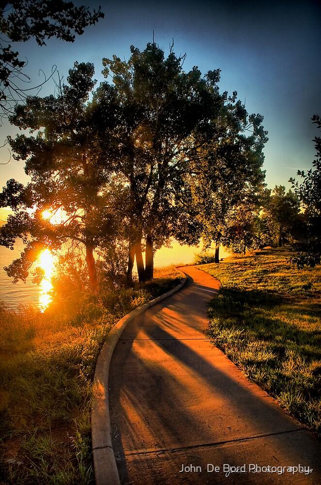 A Morning Stroll At the Lake by John  De Bord Photography