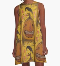 """Harvest Love"" Pumpkin and Crow A-Line Dress"