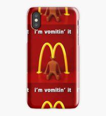 McDonald's Ima vomiting it merch iPhone Case/Skin