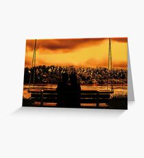 Peace at sunset Greeting Card