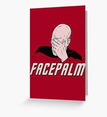 Star Trek Facepalm Greeting Card