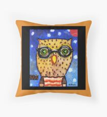 Whoo's There Throw Pillow