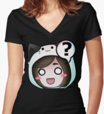 EH Emote Women's Fitted V-Neck T-Shirt