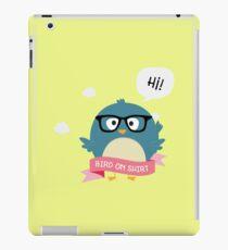 Nerd Bird on Shirt happy-Design iPad Case/Skin