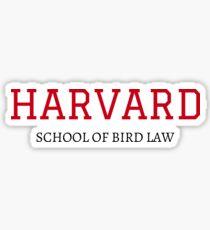 Harvard School of Bird Law Sticker
