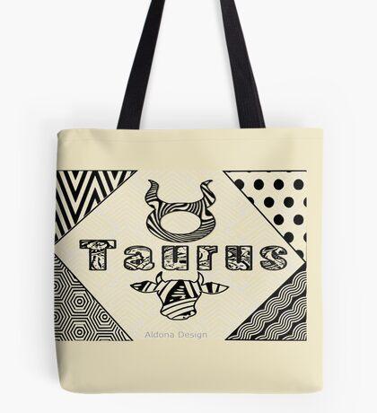 Taurus Doodle Art  (1516 Views) Tote Bag