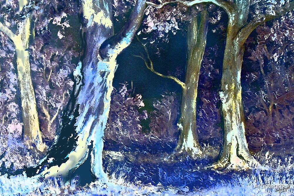 Moonlit Bush by Artintegrity