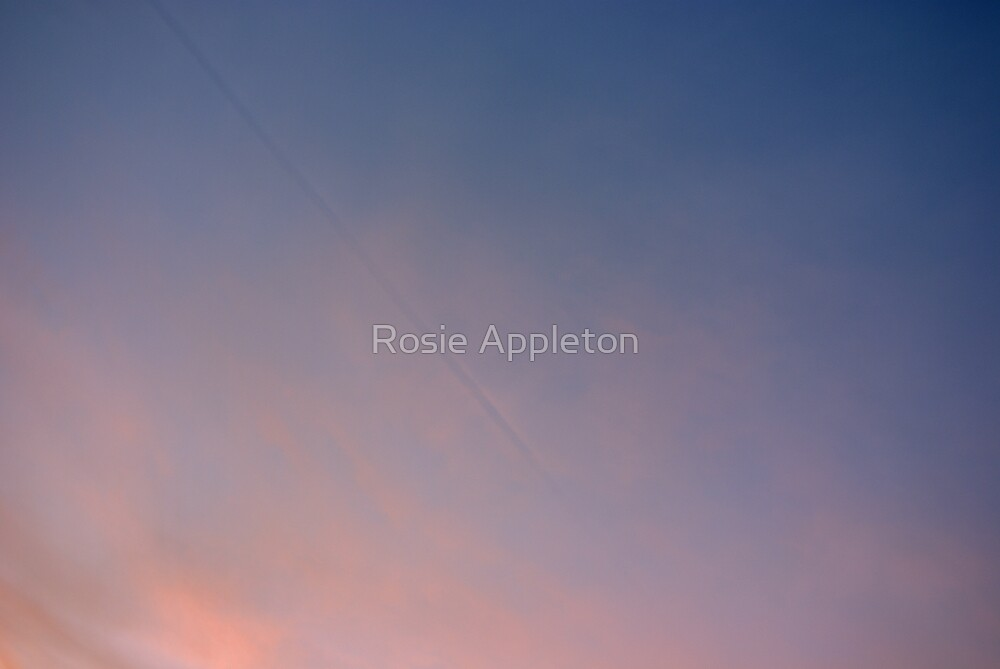 Contrail shadow by Rosie Appleton