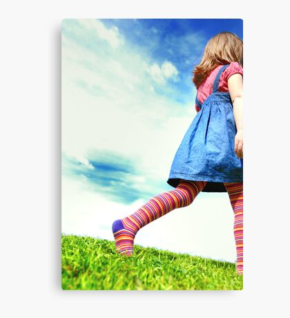 Her way Canvas Print