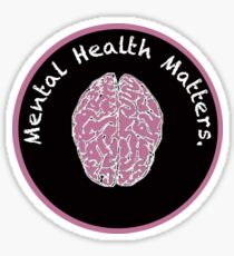 Mental Health Matters Pink and Black Sticker