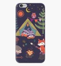 Woodland Animals Campout iPhone Case