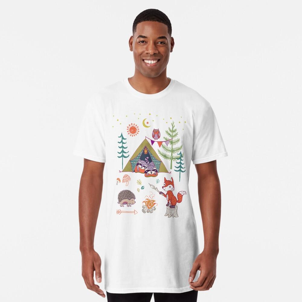 Woodland Animals Campout Long T-Shirt