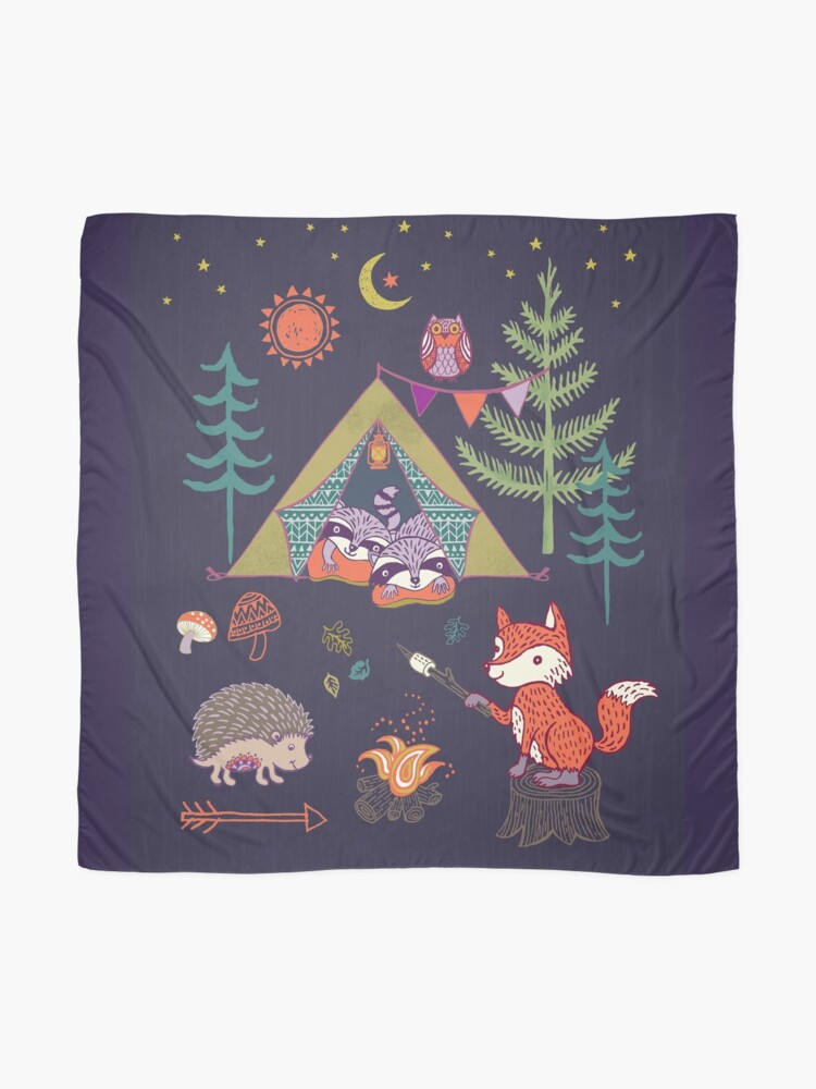 Alternate view of Woodland Animals Campout Scarf