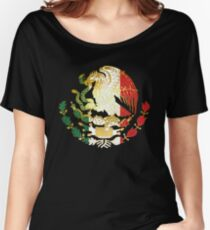 Golden Mexican Coat Of Arms Women's Relaxed Fit T-Shirt