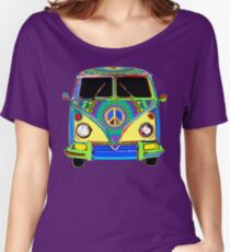 Peace Bus - Psychedelic Women's Relaxed Fit T-Shirt