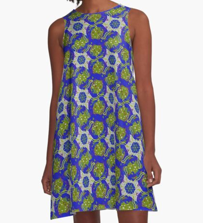Earth and Water A-Line Dress