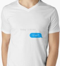 Text Message U up? Men's V-Neck T-Shirt