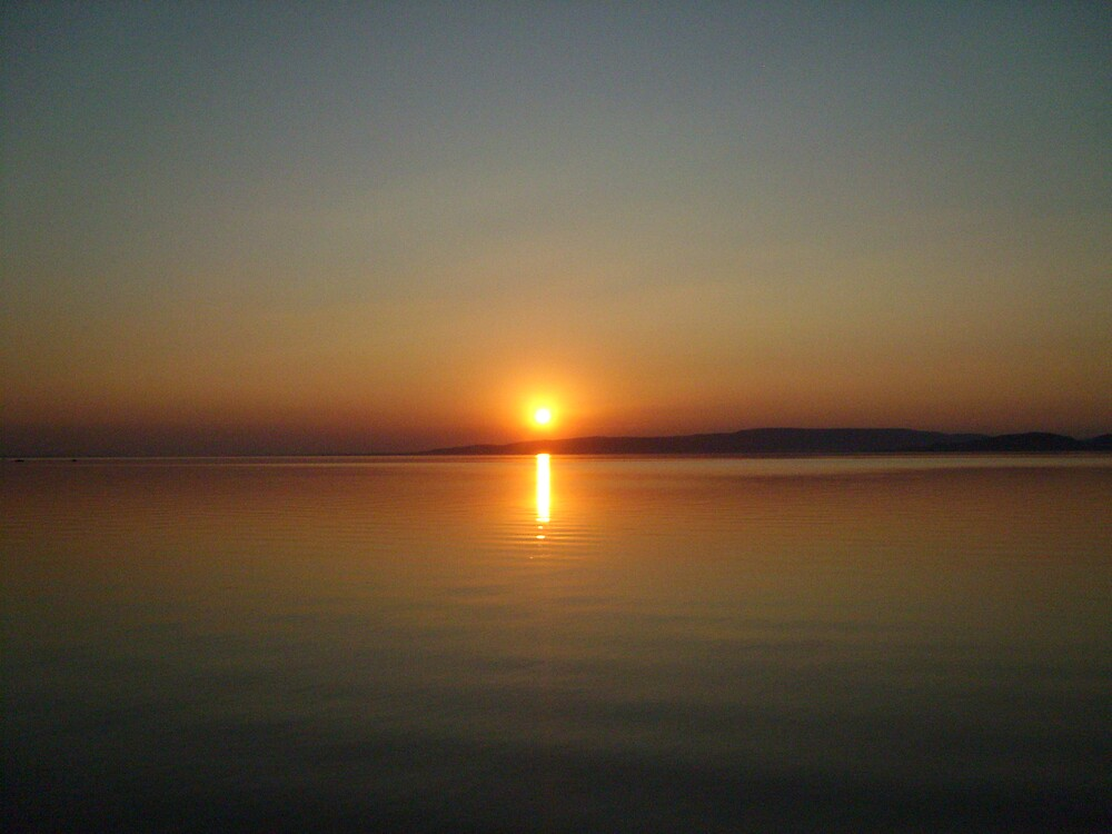 sunset balaton veru by polszki