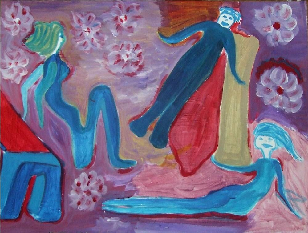 Flower-people by Sweta