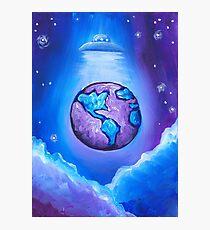 Earth UFO Photographic Print