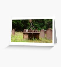 Spider in the Cemetery Greeting Card