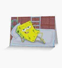 SpongeBob Sexy Bob Greeting Card