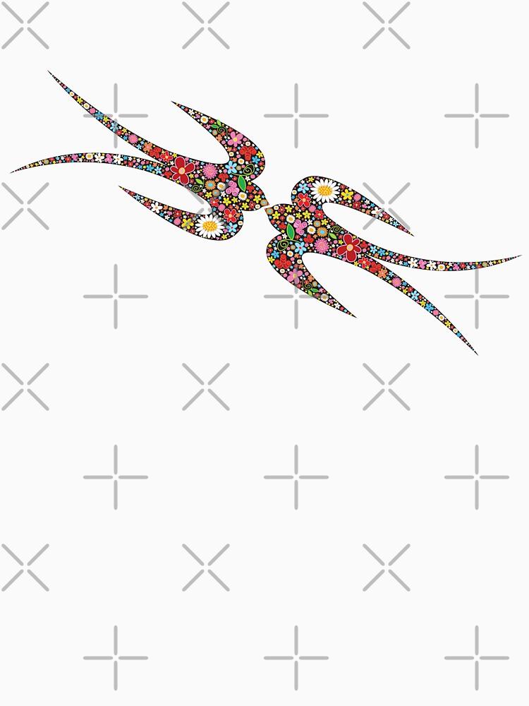 'Yen Zhi' Swallows Spring Flowers by fatfatin