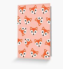 Little Red Foxes - blush Greeting Card