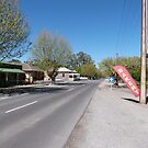 Looking down the Main Street! Mount Pleasant, Country Town. by Rita Blom