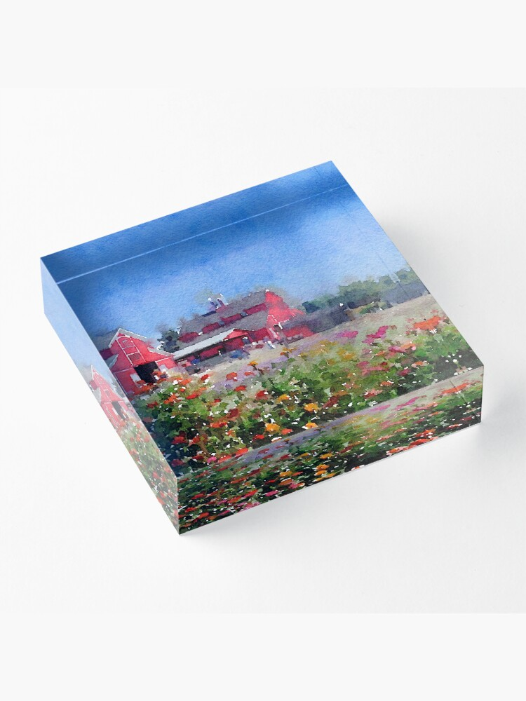 Alternate view of On the farm... Acrylic Block