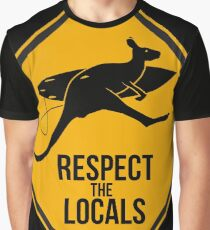 Respect the real locals. Kangaroo version. Australia surf. Graphic T-Shirt