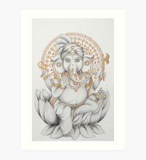 Golden Ganesh Art Print