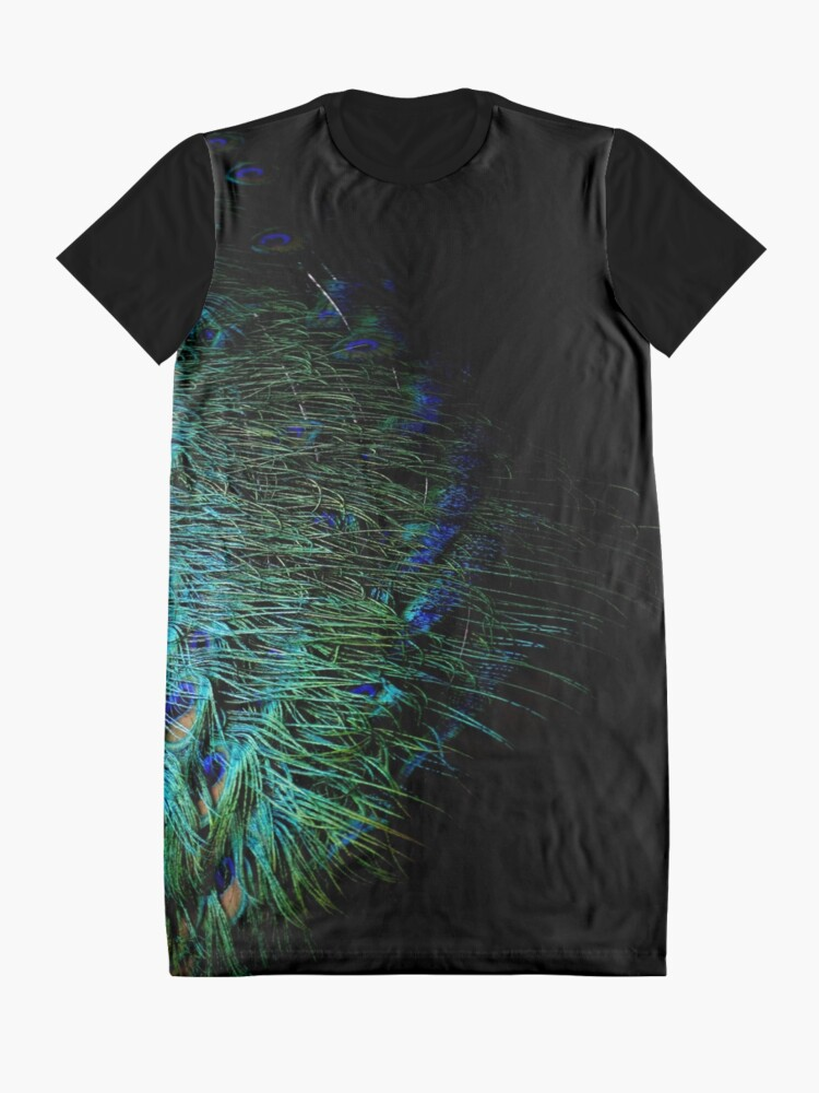Alternate view of Peacock Feather Graphic T-Shirt Dress