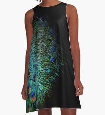 Peacock Feather A-Line Dress