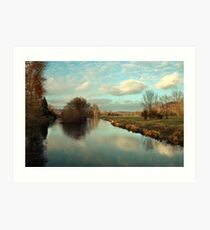 River Itchin from Five Bridges Road Art Print