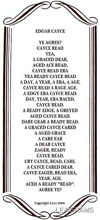 Edgar Cayce Lexigram by LEXIGRAMS