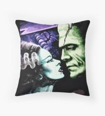 Bride & Frankie Monsters in Love Throw Pillow