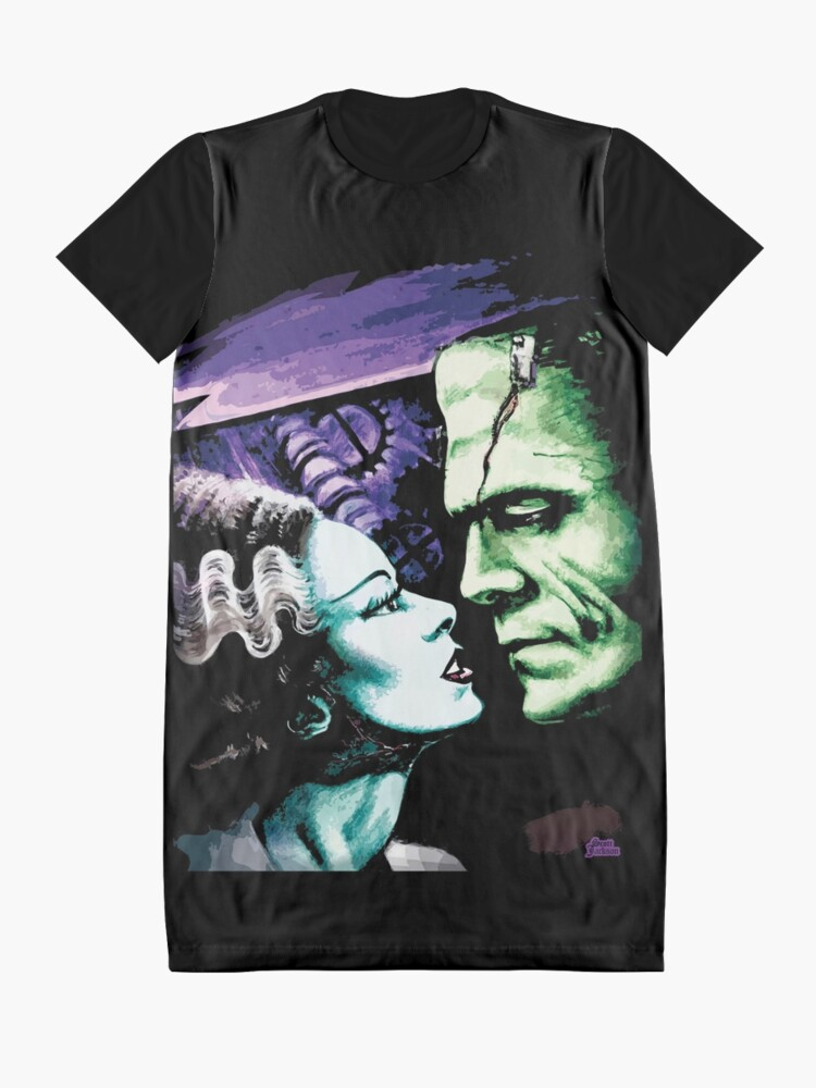 Alternate view of Bride & Frankie Monsters in Love Graphic T-Shirt Dress