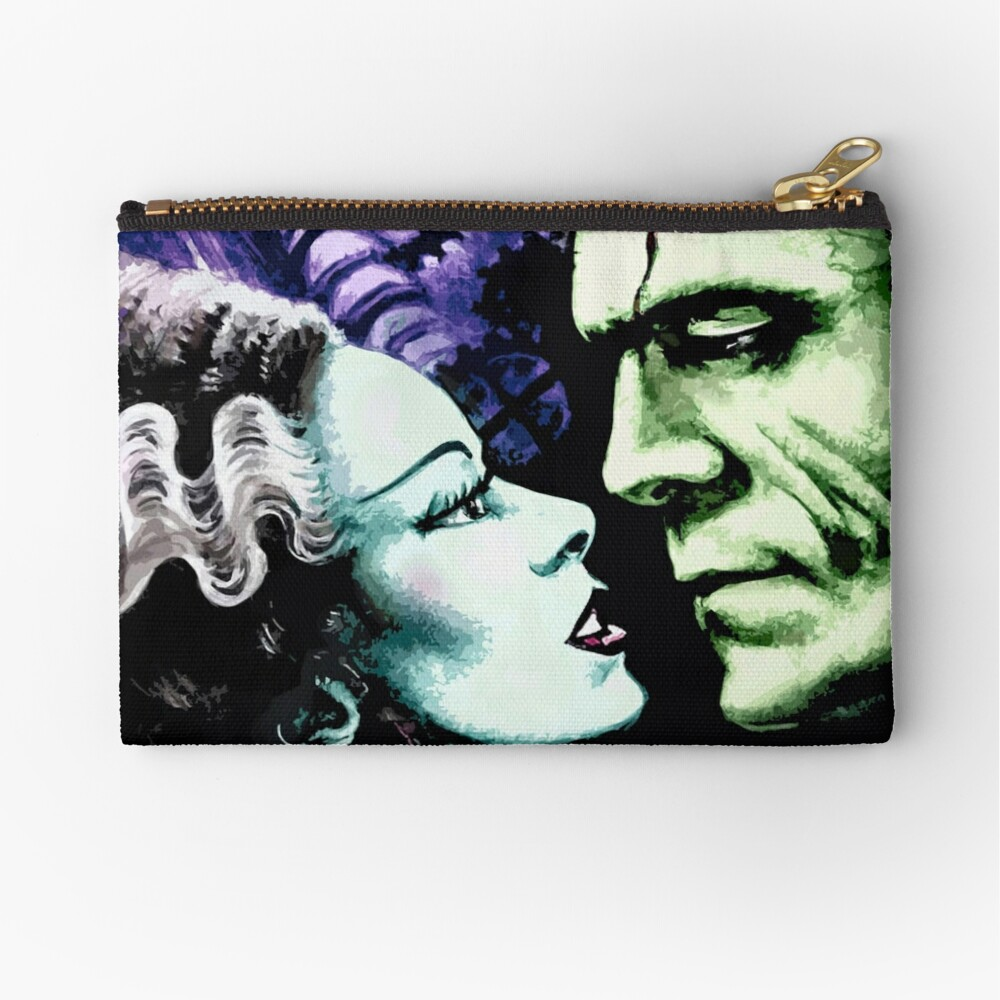 Bride & Frankie Monsters in Love Zipper Pouch