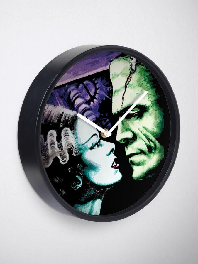 Alternate view of Bride & Frankie Monsters in Love Clock