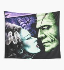 Bride & Frankie Monsters in Love Wall Tapestry