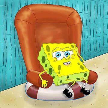 SpongeBob on a chair by iedasb