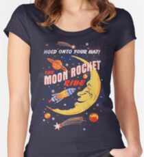 Rocket Moon Ride (vintage) Women's Fitted Scoop T-Shirt