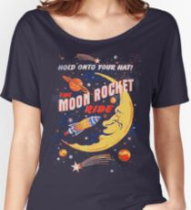 Rocket Moon Ride (vintage) Women's Relaxed Fit T-Shirt